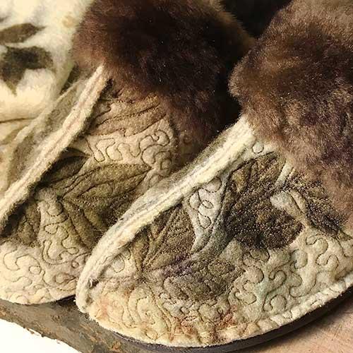 Wool Eco Printed Slippers