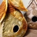 Eco-Printed Wool Pod Birdhouse