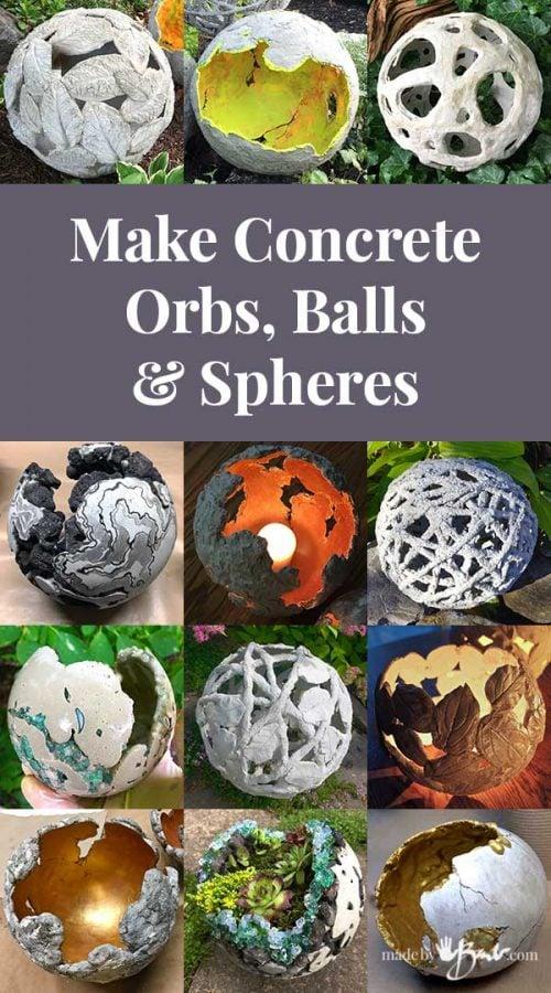 Make Concrete Orbs Spheres, How To Make Concrete Garden Spheres