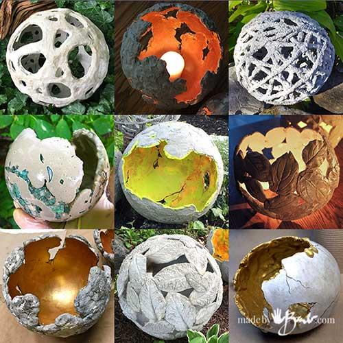Make Concrete Orbs, Balls & Spheres