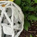 Rope & Leaf Concrete Garden Orb