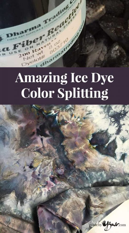 details of designs of color from splitting & container of dye