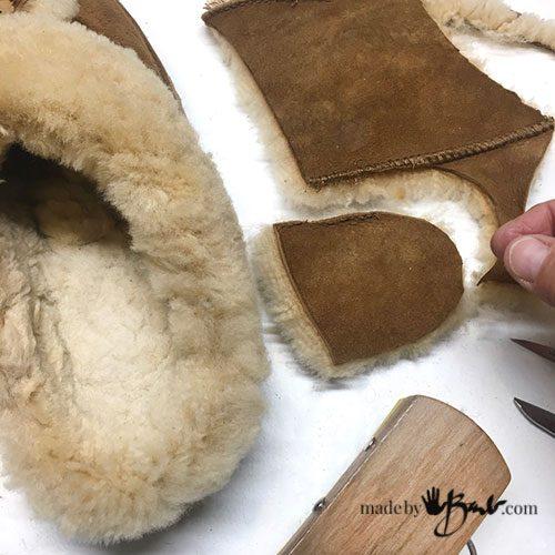 new inset of fur in heel area