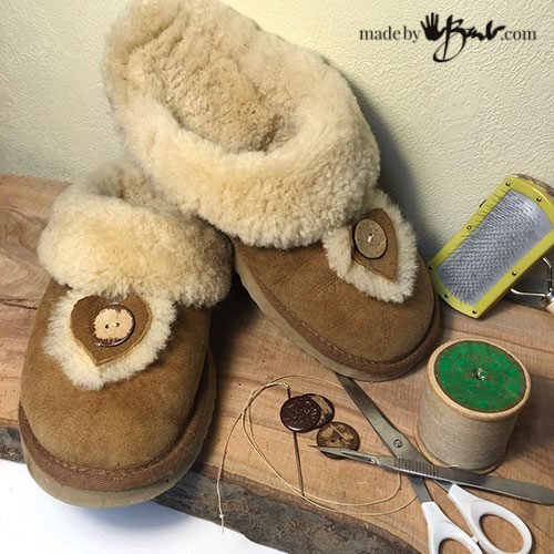 beautiful comfy shearling slippers
