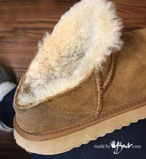 cut off Ugg boot