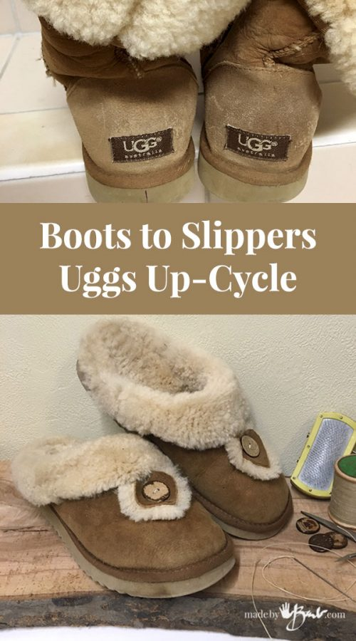 Feature image of Uggs boots transformed to mule slippers