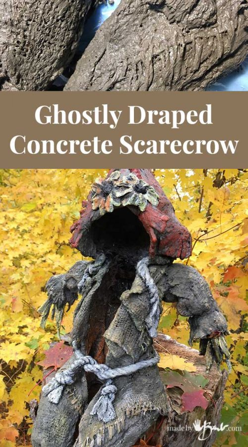 feature image with draped concrete scarecrow