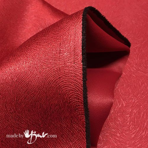 shiny red fabric close-up