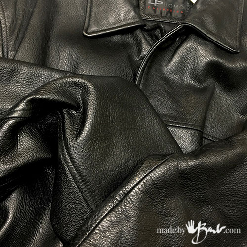 up-cycling leather jacket