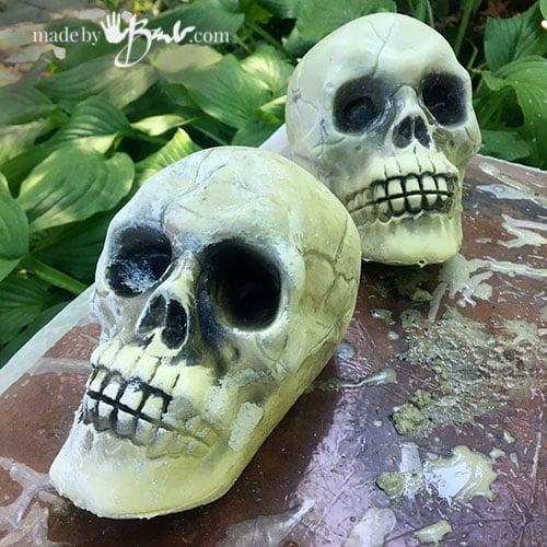 plastic hollow skull