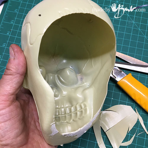 cut plastic skull