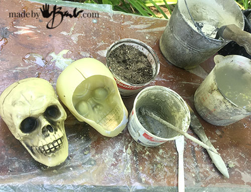 concrete supplies and skull molds