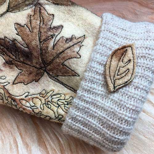 Wool FME Eco Printed Mittens