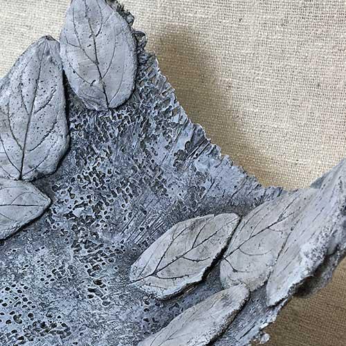 Burlap & Leaves Concrete Bowls