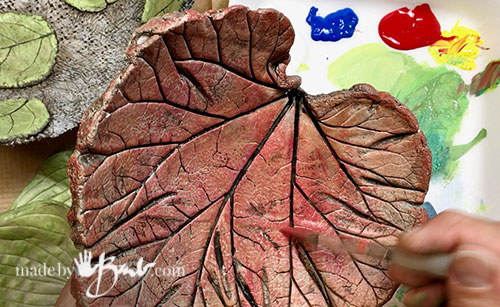 painting the reddish leaf casting